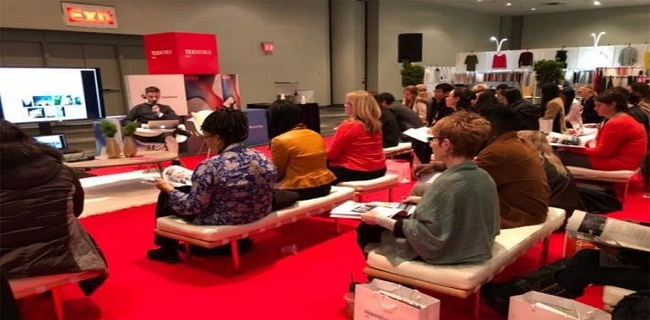 Suppliers throng Texworld USA , and Apparel Sourcing