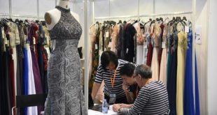 A garment producer at Hong Kong Fashion week