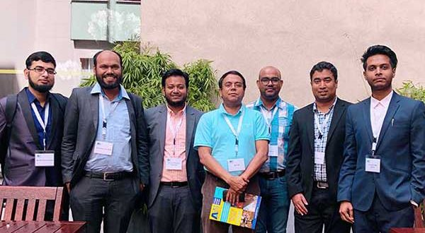 Bangladeshi textile researchers at AUTEX 2019 world textile conference.