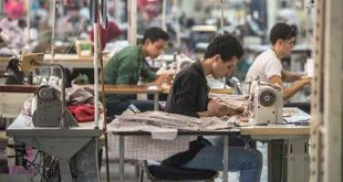 Egypt-Tailors sew at the Marie Louis textile factory about 60km outside of Cairo (AFP)