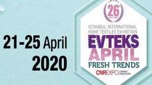 EVTEKS 2020 - 26th Istanbul International Home Textiles Exhibition @ CNR Expo Istanbul Expo Center