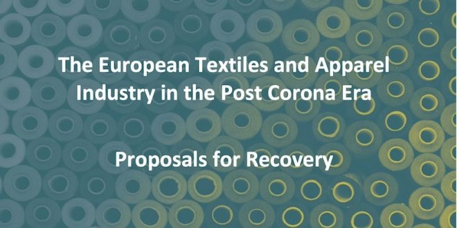 The European te presents xtile and clothing industry its strategy for the post corona