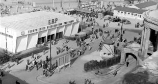 Autumn fair in Frankfurt in 1949. Copyright: Messe Frankfurt GmbH