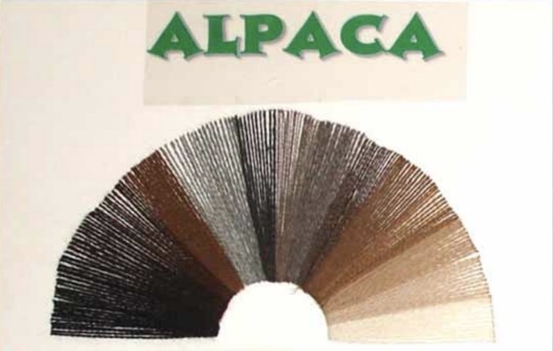Alpaca fleece in 18 official natural colours