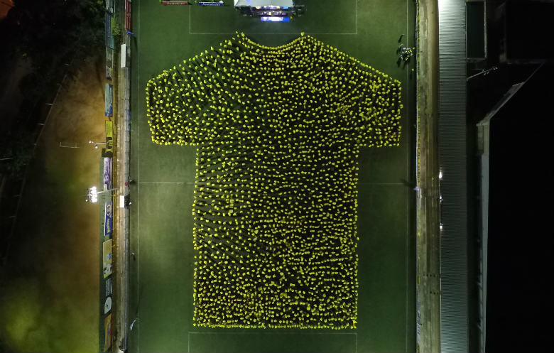 Largest human image of a shirt