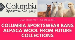 COLUMBIA SPORTSWEAR BANS ALPACA WOOL FROM FUTURE COLLECTIONS