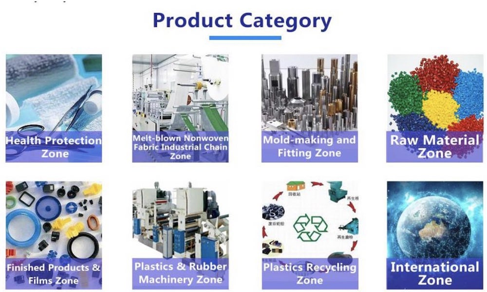 Middle East and North Africa Plastics Industry Virtual Exhibition product categories