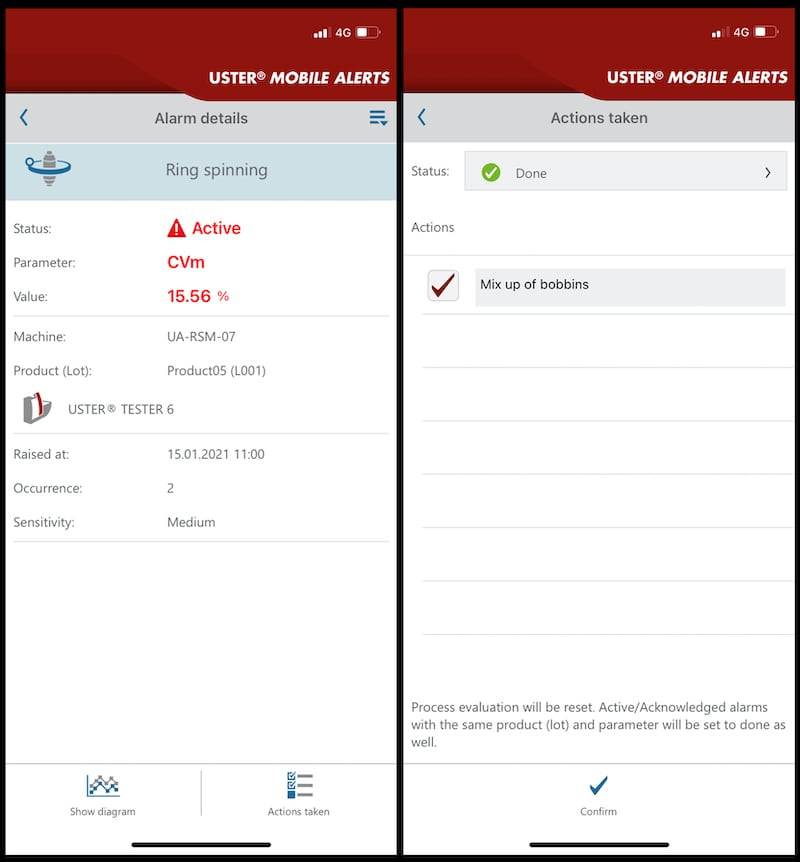 Uster Mobile Alerts_screen shots