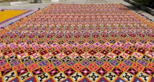 Gigantic kilim carpet