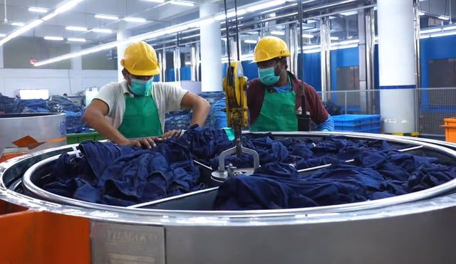 """Major Monforts denim customers continue to pioneer new initiatives that are pushing the boundaries of sustainable production.  Recycling their cotton waste has become one way these companies can do more with less, and at the recent Kingpins24 Flash online event, Sedef Uncu Aki, director of Orta, headquartered in Istanbul, Turkey, announced a new partnership with leading recycling operation Gama Recycle.  Traceable  """"Through this local partnership we will supply the waste from our spinning mills and return around 3,000 tons of premium quality cotton back to them,"""" she said. """"We have established a truly controlled and traceable system and partnering with a domestic recycling centre is important because a lot the carbon emissions associated with recycling usually come from transportation.""""  Orta's ZeroMax range meanwhile uses no cotton at all, being based on Lenzing's Tencel cellulosic fibre, while the company's involvement in denim production for a recent launch by Levi Strauss, of jeans made with organic cotton and Circulose – a breakthrough material developed by re:newcell of Sweden and partners – was hailed as a further step forward.  To make Circulose, re:newcell repurposes discarded cotton textiles, such as worn-out denim jeans, through a process akin to recycling paper. The incoming waste fabrics are broken down using water. The colour is then stripped from these materials using an eco-friendly bleach and after any synthetic fibres are removed from the mix, the slurry-like mixture is dried and the excess water is extracted, leaving behind a sheet of Circulose. This sheet is then made into viscose fibre which is combined with cotton and woven into new fabrics.  Circular Park  Omer Ahmed, CEO of Artistic Milliners also announced plans for his company's new 70,000 square-foot Circular Park in Karachi, Pakistan, at Kingpins24 Flash.  Once complete, this will add three million square metres of additional denim capacity a month to the company's production and take its"""