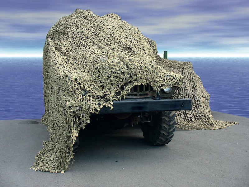camouflaged Jeep