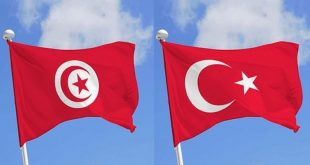 Flags of Tunisia and Turkey